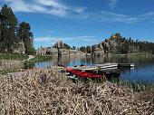 Recreational Boats at Sylvan Lake, Custer State Park, South Dakota