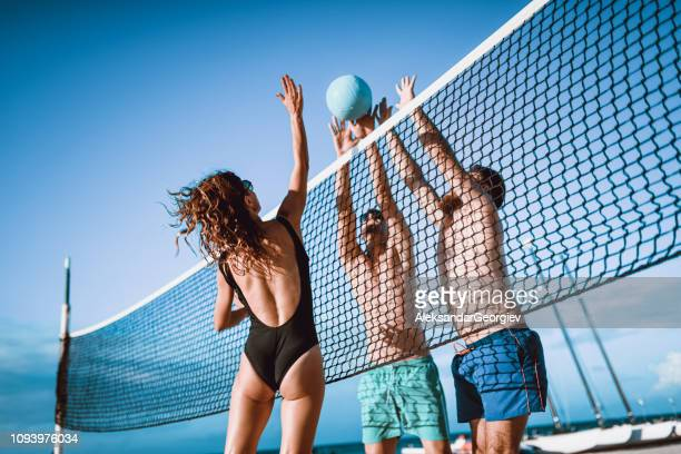 Recreational Volleyball During a Summer Vacation