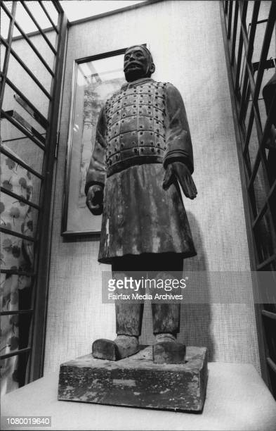 Recreations of the Chinese 'Entombed Warriors' at David Jones Elizabeth St August 25 1983