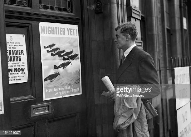 A Recruit Joins The Royal Air Force Prospective recruit Michael Suthers arrives at Euston Combined Recruits Centre and is attracted by a poster on...