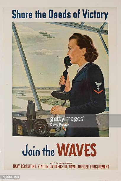 1943 recruiting poster for the WAVES womens naval service