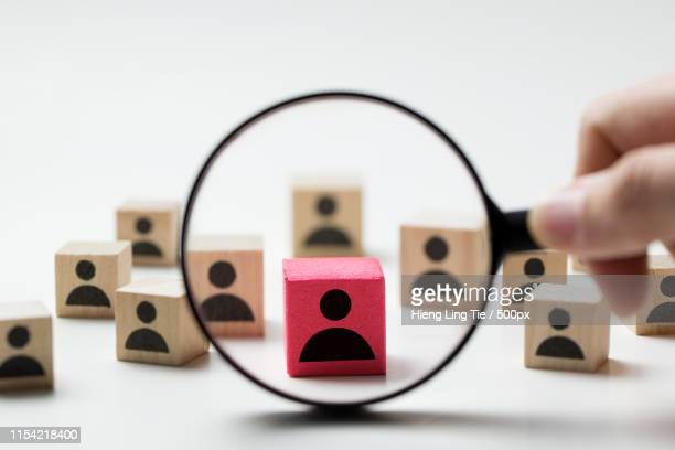 recruitment concept searching for employee - symbol stock pictures, royalty-free photos & images