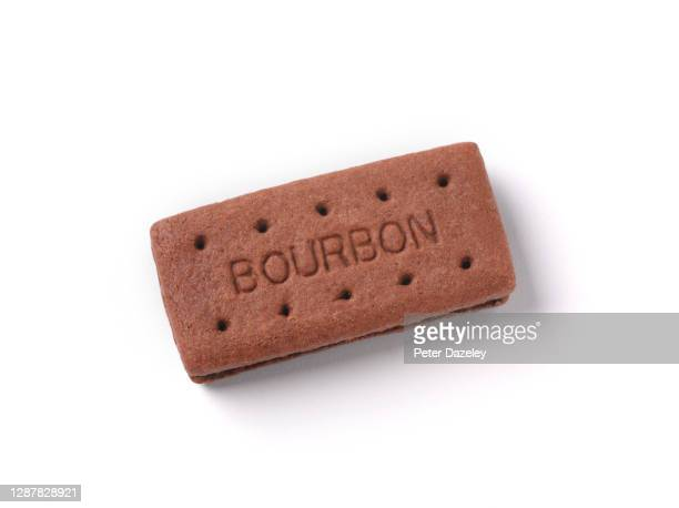 rectangular chocolate biscuit, on white background - bourbon whiskey stock pictures, royalty-free photos & images