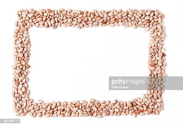 pratos retangulares quadro de feijão pinto - pinto bean - fotografias e filmes do acervo