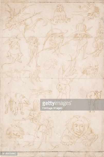 Grotesque Studies circa 15001520 Verso Grotesque Studies circa 15001520 Dimensions height x width sheet 317 x 209 cm