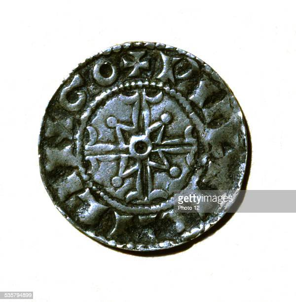 Recto of a silver denier from William the Conqueror duke of Normandy and king of England 11th century France