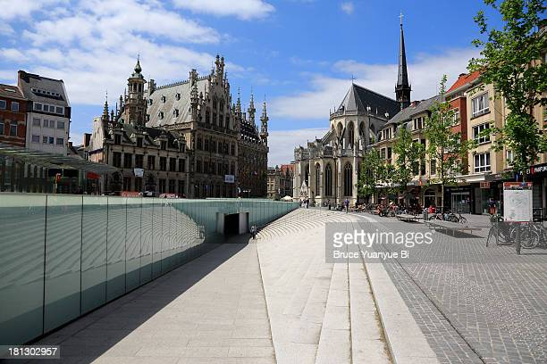 rector de somer square - leuven stock pictures, royalty-free photos & images