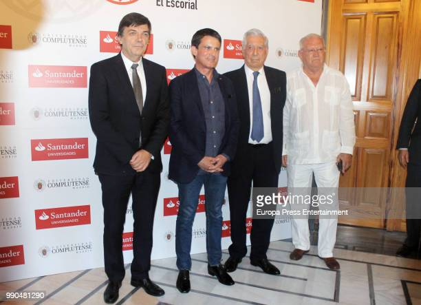Rector of the Complutense University of Madrid Carlos Andradas Former French Prime Minister Manuel Valls Nobel prize winner for literature Mario...