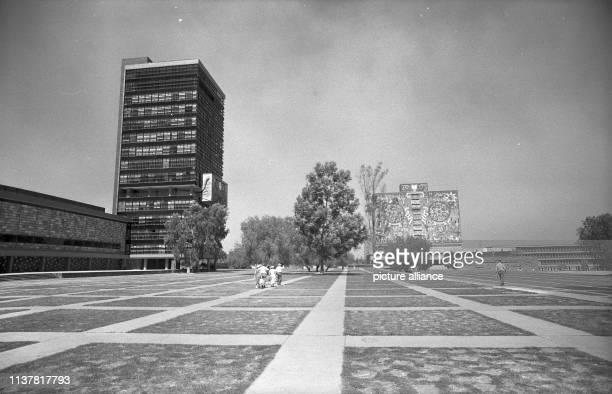 Rectorate Building and Library Ciudad Universitaria Guatemala 1958 | usage worldwide