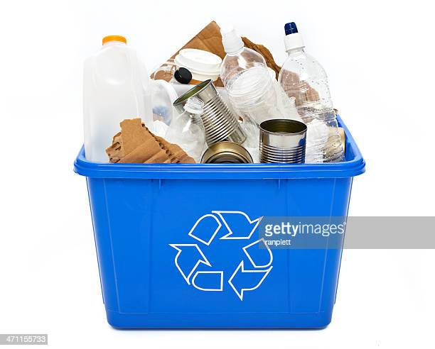 recycle bin isolated - garbage bin stock pictures, royalty-free photos & images