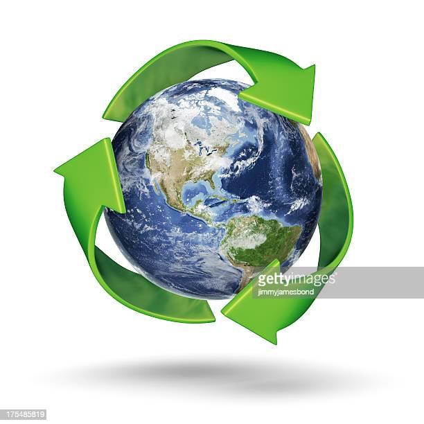 リサイクルアース-南北アメリカ西部の半球