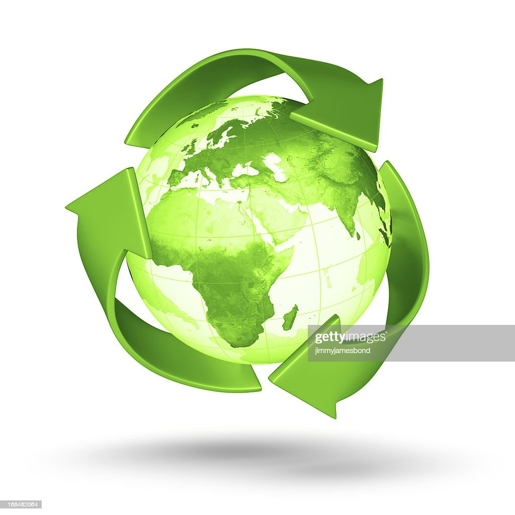 Recycle Earth - European Eastern Hemisphere : Stock Photo