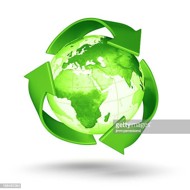 recycle earth - european eastern hemisphere - environmental signs and symbols stock pictures, royalty-free photos & images