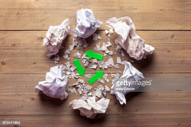 recycle paper responsiblity - responsible business stock photos and pictures
