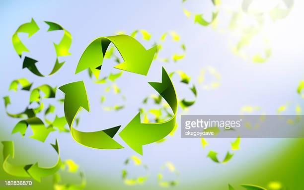 Recycler symbole feuilles de printemps breeeze