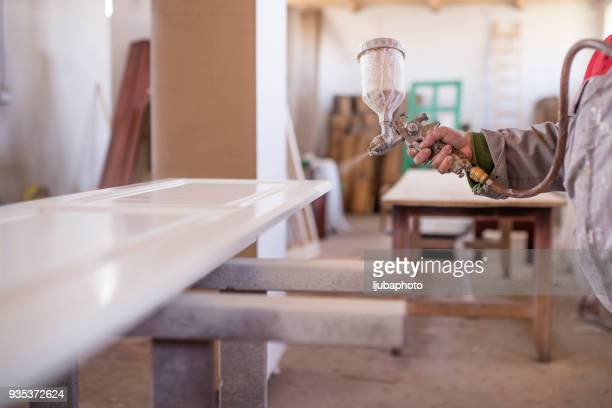 recycled furniture - spraying stock pictures, royalty-free photos & images