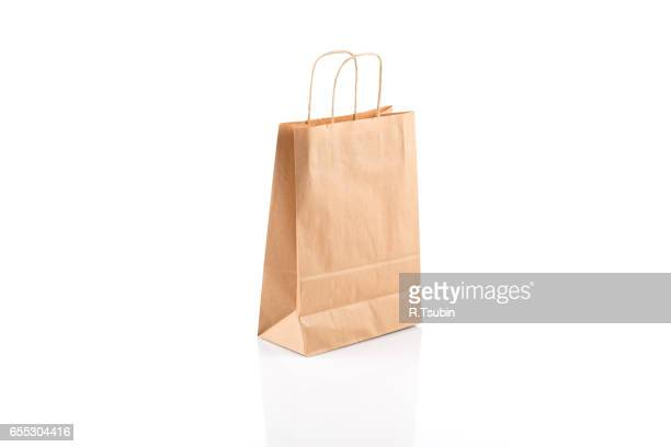 Recycled paper kraft shopping bag