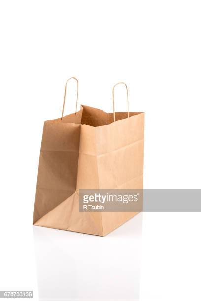 Recycled paper kraft shopping bag