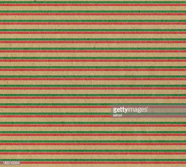 recycled paper with red and green stripe