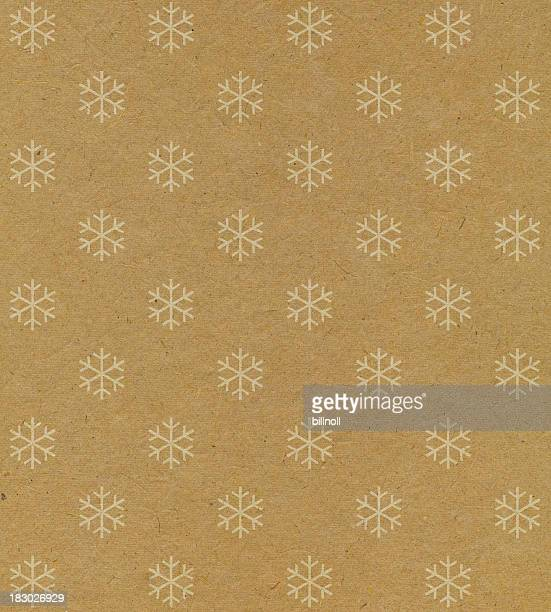 recycled paper with snowflake pattern