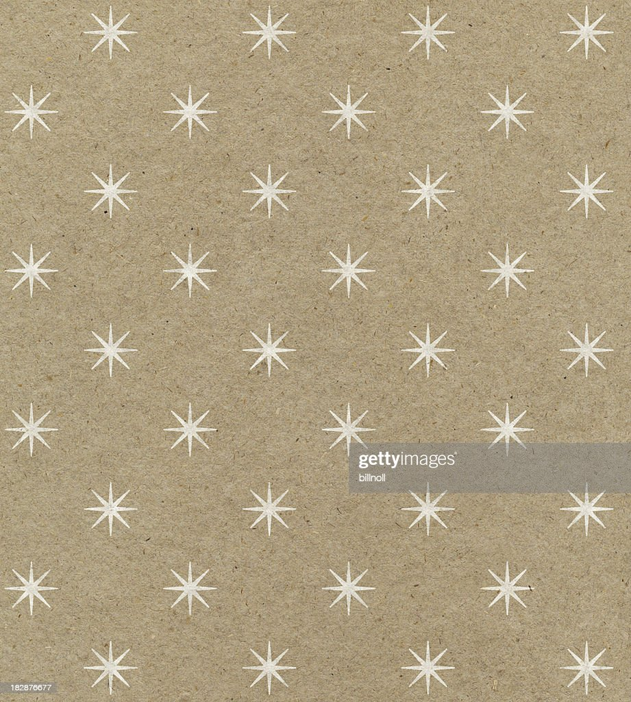 recycled paper with star pattern : Stock Photo