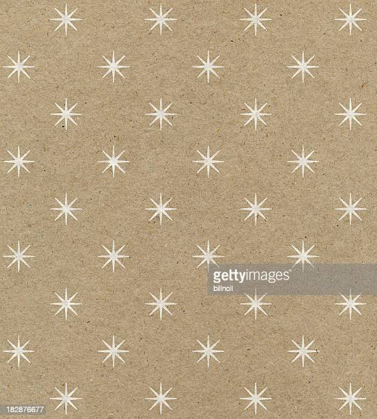recycled paper with star pattern