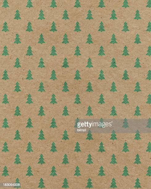 recycled paper with tree pattern