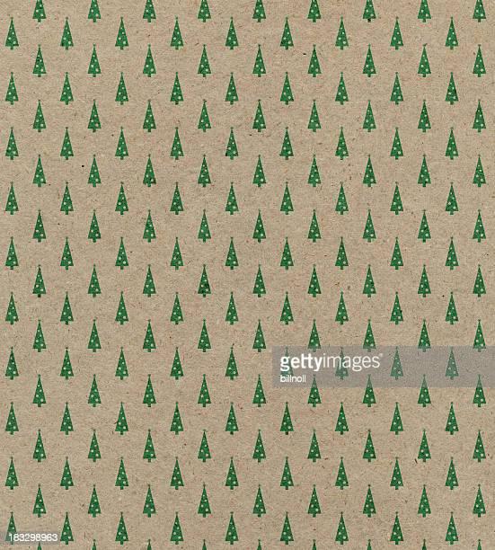 Patrón de papel reciclado con árbol