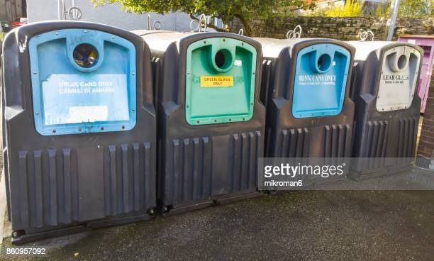 Recycling Bins, containers