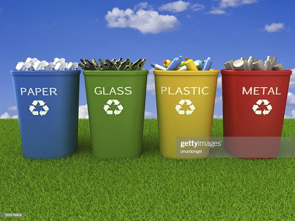 Recycling Bins : Stock Photo