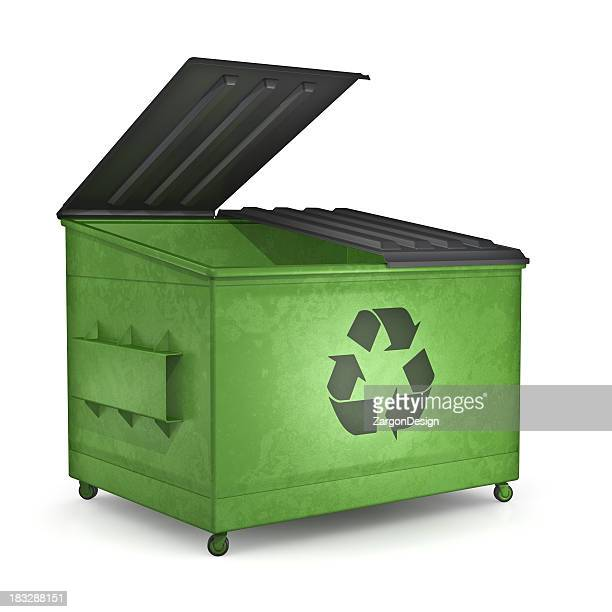 Recycling dumpster