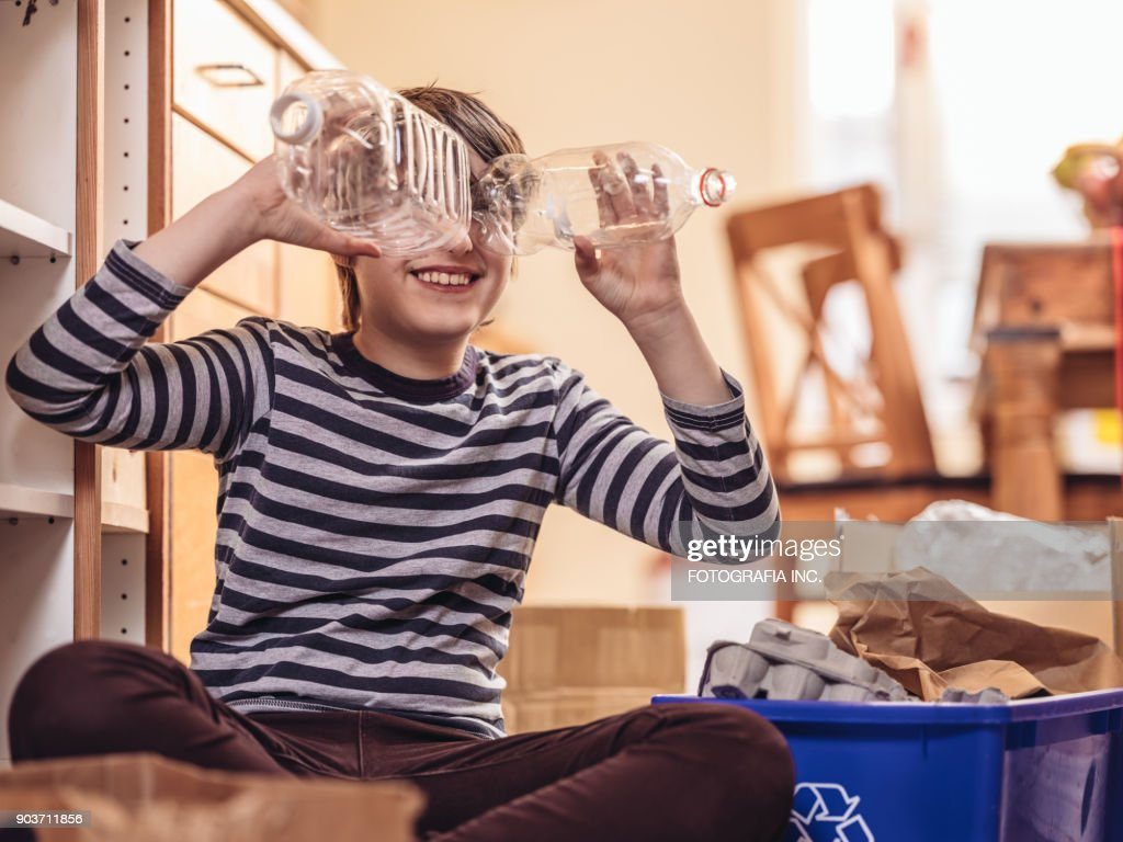 Recycling in Daily Life : Stock Photo
