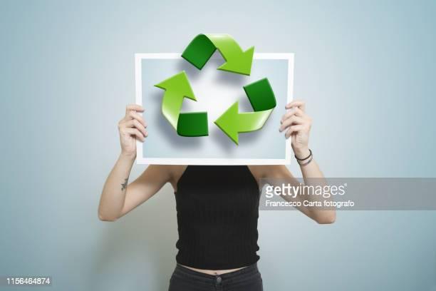 recycling - social awareness symbol stock photos and pictures