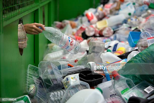 recycling plastic - bottle stock pictures, royalty-free photos & images