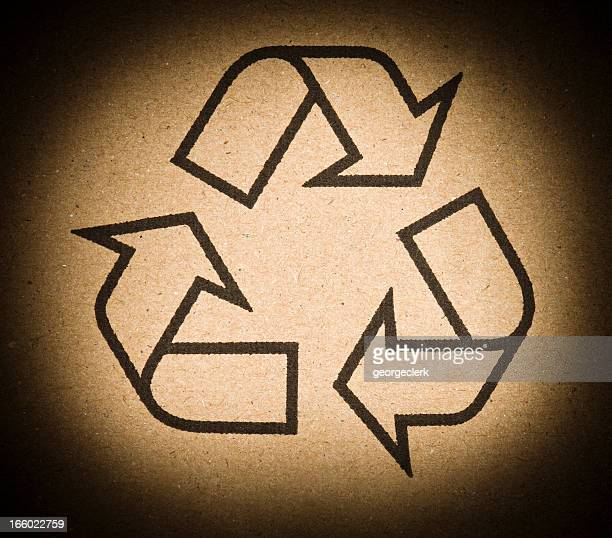 Recycling Symbol on Cardboard