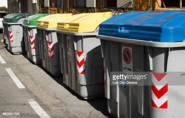 recycling trash cans - incinerator stock photos and pictures