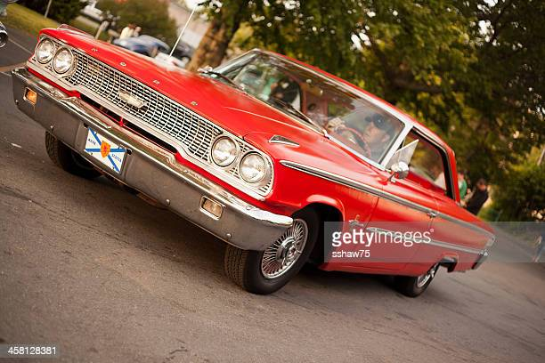 red 1963 ford galaxie - bedford nova scotia stock pictures, royalty-free photos & images
