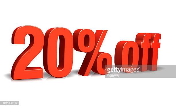 Red 20% off 3D Sign