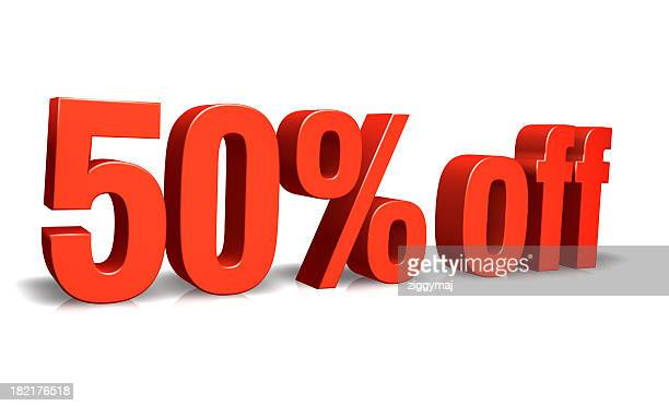 Red 50% off 3D Sign