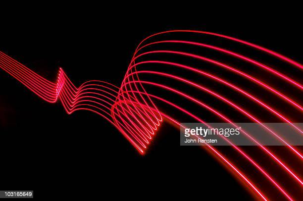red abstract coloured lights trails and patterns