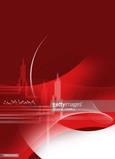 Red abstract creative graphic