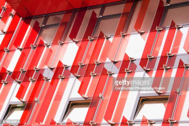Red acrylic feature on outside of building Reeperbahn Hamburg Germany