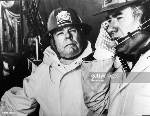 Red Adair with Boots Hanson at the Bravo Oil Rig Blowout April 1977