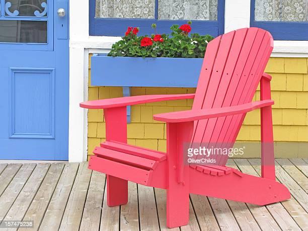 Red Adirondak Chair.