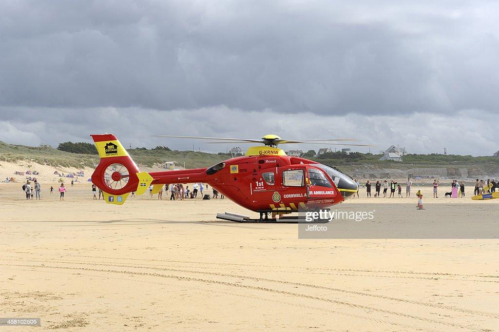 Red Air Ambulance : Stock Photo