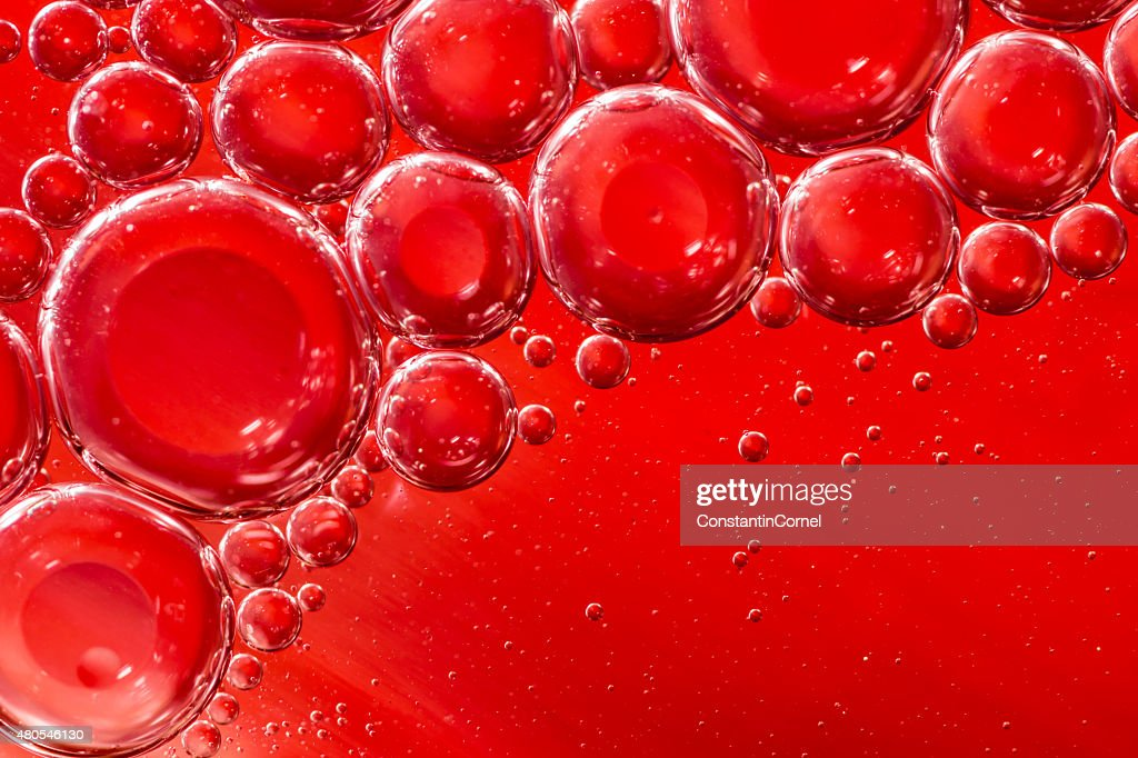 Red air bubbles background : Stock Photo