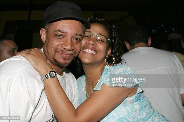 DJ Red Alert and Monie Love during Tony Touch and Monie Love Birthday Party at Lobby in New York City New York United States