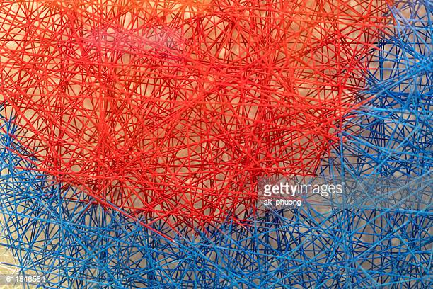 red and blue - string stock pictures, royalty-free photos & images