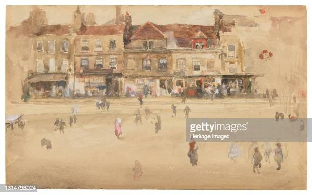 Red and Brown-Hoxton, 1885-1886. Artist James Abbott McNeill Whistler.