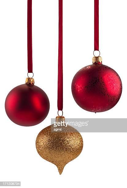 Weihnachts-Dekorationen auf Weiß